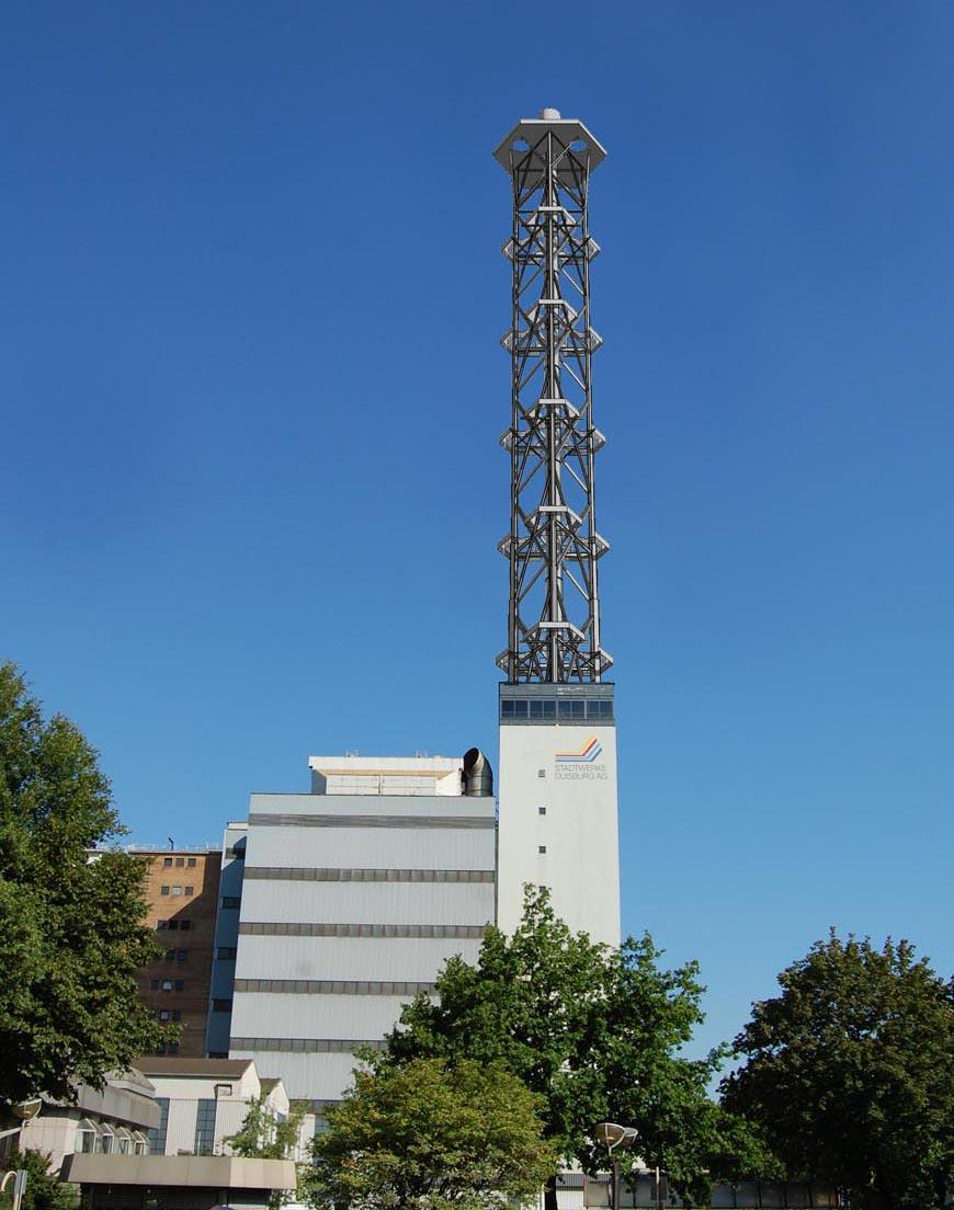 So wird der Stadtwerketurm nach dem Rückbau der Rauchgasrohre aussehen.